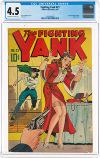 Fighting Yank #21 (Nedor Publications, 1947) CGC VG+ 4.5 Off-white to white pages