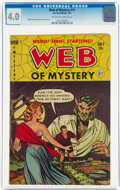 Golden Age (1938-1955):Horror, Web of Mystery #11 (Ace, 1952) CGC VG 4.0 Off-white to white pages....