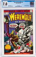 Bronze Age (1970-1979):Horror, Werewolf by Night #32 (Marvel, 1975) CGC FN/VF 7.0 Off-white to white pages....