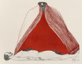 Works on Paper, Leonard Baskin (American, 1922-2000). Birdman's Claim, 1995. Etching in colors on paper . 19-1/4 x 25-1/4 inches (48.9 x...