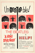 Movie Posters:Rock and Roll, A Hard Day's Night/Help! Combo (United Artists, R-1965). R...