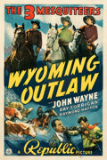 "Movie Posters:Western, Wyoming Outlaw (Republic, 1939). Fine+ on Linen. One Sheet (27"" X 41"").. ..."