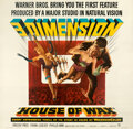 """Movie Posters:Horror, House of Wax (Warner Bros., 1953). Very Fine on Linen. Six Sheet (81"""" X79.5"""") 3-D Style.. ..."""