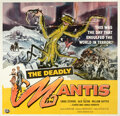 Movie Posters:Science Fiction, The Deadly Mantis (Universal International, 1957). Fine- o...