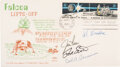 Explorers:Space Exploration, Apollo 15 Crew-Signed Lunar Lift-Off/ First Day Cover....