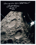 "Explorers:Space Exploration, Fred Haise Signed Apollo 13 ""Lost Moon"" Lunar Surface Colo..."