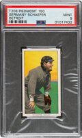 Baseball Cards:Singles (Pre-1930), 1909-11 T206 Piedmont 150 Germany Schaefer (Detroit) PSA Mint 9 - Pop Two, Only One Higher With This Brand & Series. ...