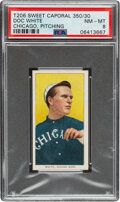 Baseball Cards:Singles (Pre-1930), 1909-11 T206 Sweet Caporal 350/30 Doc White (Pitching) PSA NM-MT 8 - Pop Three, None Higher With This Brand/Series/Factory Com...