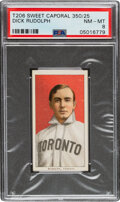 Baseball Cards:Singles (Pre-1930), 1909-11 T206 Sweet Caporal 350/25 Dick Rudolph PSA NM-MT 8 - Overall, The Highest Graded Example! ...