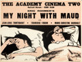 """Movie Posters:Foreign, My Night at Maud's (CFDC, 1970). Rolled, Very Fine. British Quad (30"""" X 40"""") Peter Strausfeld Artwork, British Title: My N..."""