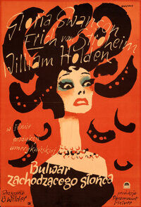"""Sunset Boulevard (Paramount, 1957). Folded, Fine-. First Release Full-Bleed Polish One Sheet (22.5"""" X 33"""") Wal..."""