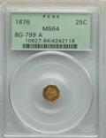1876 25C Indian Octagonal 25 Cents, BG-799A, High R.6, MS64 PCGS. PCGS Population: (8/1). NGC Census: (0/0). ...(PCGS# 1...