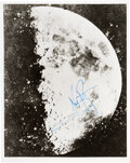 Explorers:Space Exploration, Neil Armstrong Signed Vintage NASA Photo of the Earliest Close-up Taken of the Moon (in 1851). ...