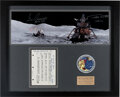 Explorers:Space Exploration, Apollo 17 Lunar Module Flown Checklist Page Originally from the Personal Collection of Mission Commander Gene Cernan, Signed a...