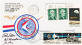 """Explorers:Space Exploration, Apollo 15 Lunar Module Flown Crew-Signed """"Sieger"""" Cover #68, with Signed and Notarized Certification. ..."""