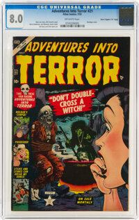 "Adventures Into Terror #21 Davis Crippen (""D"" Copy) Pedigree (Atlas, 1953) CGC VF 8.0 Off-white pages"