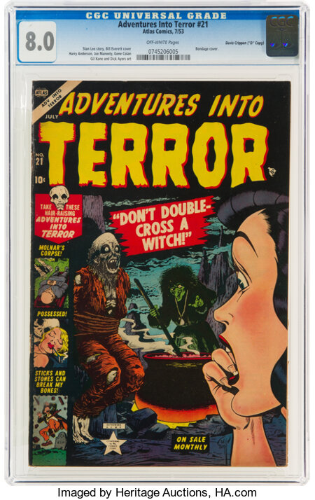 "Adventures Into Terror #21 Davis Crippen (""D"" Copy) Pedigree (Atlas, 1953) CGC VF 8.0 Off-white pages...."