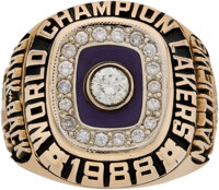 1988 Los Angeles Lakers NBA Championship Ring Presented to Wes Matthews