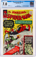 Silver Age (1956-1969):Superhero, The Amazing Spider-Man #14 (Marvel, 1964) CGC FN/VF 7.0 Cream to off-white pages....