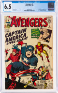 Silver Age (1956-1969):Superhero, The Avengers #4 (Marvel, 1964) CGC FN+ 6.5 Off-white pages....