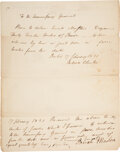 "Autographs:Statesmen, Dewitt Clinton Autograph Document Signed as Governor of New York ""Dewitt Clinton.""..."