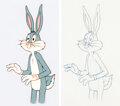 Animation Art:Production Cel, Bugs Bunny Production Cel and Animation Drawing (Warner Brothers, c. 1970s-80s).... (Total: 2 )