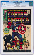 Silver Age (1956-1969):Superhero, Captain America #100 (Marvel, 1968) CGC NM+ 9.6 Off-white to white pages....