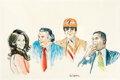 """Football Collectibles:Others, 1980's Jimmy """"The Greek"""" Original Artwork Lot of 3 from the Jimmy """"The Greek"""" Snyder Collection.... (Total: 3 items)"""