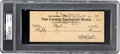 Autographs:Checks, 1945 Babe Ruth Dual Signed Check, PSA/DNA Gem Mint 10....