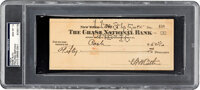 1945 Babe Ruth Dual Signed Check, PSA/DNA Gem Mint 10