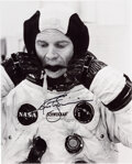 """Explorers:Space Exploration, Rusty Schweickart Apollo 9 Suit-up Photo. An 8"""" x..."""
