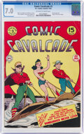Golden Age (1938-1955):Superhero, Comic Cavalcade #3 (DC, 1943) CGC FN/VF 7.0 Off-white to white pages....