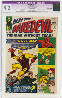 Daredevil #1 (Marvel, 1964) CGC Apparent NM- 9.2 Off-white pages
