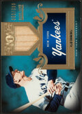 Baseball Cards:Singles (1970-Now), 2011 Topps Tier One Lou Gehrig Bat Relic Card #TSR27 - Serial Numbered 353/399. ...