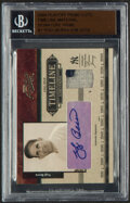 Baseball Cards:Singles (1970-Now), 2004 Playoff Prime Cuts Timeline Material Signature Prime Yogi Berra Autograph Jersey Relic Card #T-7 - Serial Numbered 6/8....