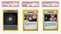 Pokemon Rainbow Energy, Team Rocket, and Sneak Attack Unlimited Team Rocket Set Holographic Trading Cards (Wizards of th...