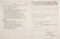 """Autographs:Inventors, William Stewart Halsted Document Signed """"W. S. Halsted.""""... (Total: 2 Items)"""