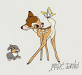 Animation Art:Seriograph, Bambi Bambi and Thumper Sericel/Serigraph Signed by Marc Davis (Walt Disney, c. 1989)....