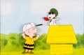 Animation Art:Production Cel, Peanuts Charlie Brown and Snoopy Show Production Cel (Bill Melendez, c. 1980s)....
