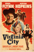 """Movie Posters:Western, Virginia City (Warner Bros., 1940). Folded, Fine+. One Sheet (27"""" X 41""""). Theaters of Old Detroit Collection."""