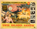 """Movie Posters:Science Fiction, This Island Earth (Universal International, 1955). Fine+ on Linen. Half Sheet (22"""" X 28"""") Style A, Reynold Brown Artwork. Sc..."""
