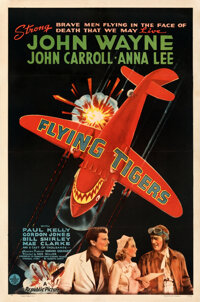 """Flying Tigers (Republic, 1942). Fine+ on Linen. One Sheet (27"""" X 41"""") Style A"""