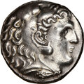 Ancients:Greek, Ancients: MACEDONIAN KINGDOM. Alexander III the Great (336-323 BC). AR tetradrachm (26mm, 17.10 gm, 2h). NGC Choice AU 5/5 - 2/5, brushe...