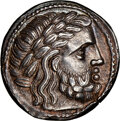 Ancients:Celtic, Ancients: EASTERN EUROPE. Imitative of Philip II (ca. 3rd-2nd centuries BC). AR tetradrachm (25mm, 14.01 gm, 1h). NGC Choice XF 5/5 - 4/...