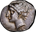 Ancients:Greek, Ancients: CALABRIA. Tarentum. Ca. 281-228 BC. AR stater or didrachm (21mm, 7.46 gm, 11h). NGC AU 2/5 - 3/5, light scratches....
