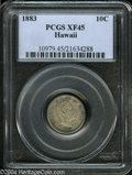 Coins of Hawaii: , 1883 Hawaii Ten Cents XF45 PCGS. ...
