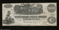 Confederate Notes:1862 Issues, T39 $100 1862. This Straight Steam variety has a small ...