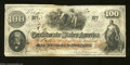 Confederate Notes:1862 Issues, T41 $100 1862. A couple of pre-printing crinkles are found ...