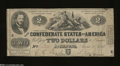 Confederate Notes:1862 Issues, T42 $2 1862. The edges show light handling on this example ...