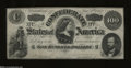 Confederate Notes:1862 Issues, T49 $100 1862. Light folds, wholesome edges, nice color, ...